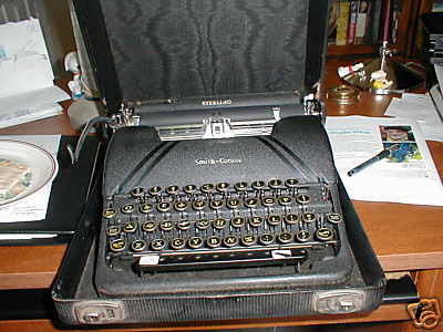 image of smith corona typewriter